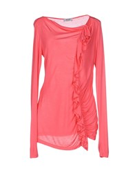 Moschino Cheap And Chic Moschino Cheapandchic Topwear T Shirts Women Coral