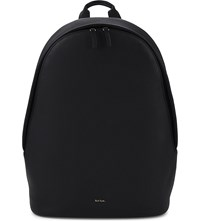 Paul Smith Accessories City Leather Backpack Black