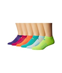 New Balance Lifestyle No Show 6 Pack Assorted 1 No Show Socks Shoes Multi