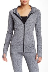 Steve Madden Fleece Lined Spacedye Hoodie Black