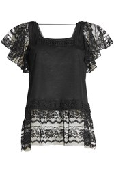 Anna Sui Top With Lace And Embroidery