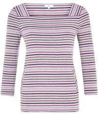 Cc Ombre Stripe Square Neck Jersey Top Multi Coloured