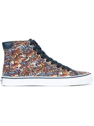 Kenzo 'Vulcano Flying Tiger' Hi Top Sneakers Blue