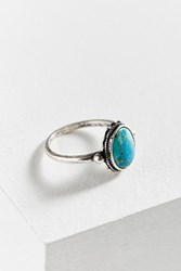 Urban Outfitters Heidi Oval Stone Ring Turquoise