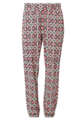 S.Oliver Maxie Trousers Cream Lobster Multicoloured