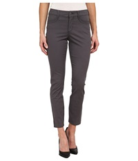 Nydj Adalaine Skinny Ankle Peached Sateen Dark Graphite Women's Casual Pants Pewter