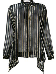 Etro Stripe Blouse Black