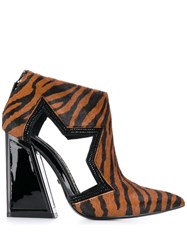 Kat Maconie Pony Tiger Print Boots Brown