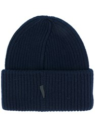 Golden Goose Deluxe Brand George Beanie Wool Blue