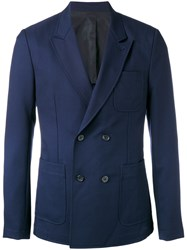 Ami Alexandre Mattiussi Double Breasted Blazer Blue