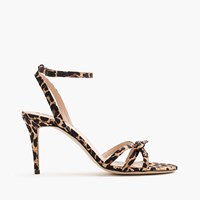 J.Crew Leopard Bow Sandals Brown Tan Black