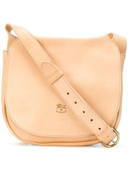Il Bisonte Saddle Bag Nude And Neutrals