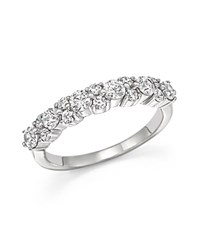 Bloomingdale's Diamond Cluster Band In 14K White Gold 1.0 Ct. T.W.