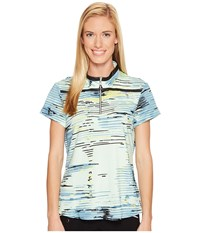 Jamie Sadock Staccato Print Above Elbow Short Sleeve Top Mint Julep Women's Clothing Green