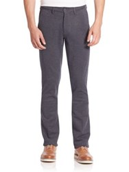 Saks Fifth Avenue Textured Chino Pants Dark Blue
