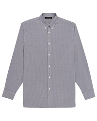 Jaeger Informal Mini Gingham Shirt Navy
