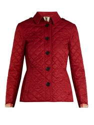 Burberry Ashurt Diamond Quilted Jacket Red