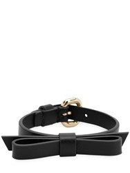 Red Valentino Leather Bracelet Black
