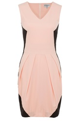 Wolf And Whistle Peach And Black Tailored Dress Pink