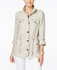 Inc International Concepts Drawstring Waist Anorak Jacket Only At Macy's Toad Beige