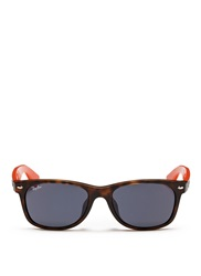Ray Ban 'New Wayfarer Colour Mix' Matte Plastic Sunglasses Brown Multi Colour
