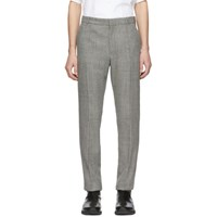 Balmain Black And White Prince Of Wales Tailored Trousers