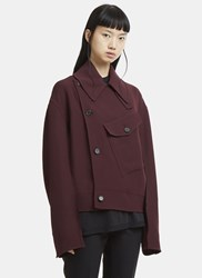 Yang Li Pocket Jacket Burgundy