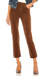 Ag Adriano Goldschmied Isabelle Button Up Pant In Brown. Dusty Auburn