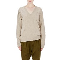 Givenchy Destroyed' Sweater Beige Tan