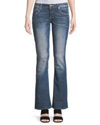 Miss Me Distressed Boot Cut Jeans Blue