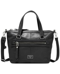 Fossil Dawson Leather Satchel Black
