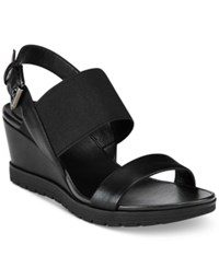 Easy Spirit Hagano Wedge Sandals Women's Shoes Black