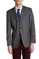 Tommy Hilfiger Ethan Two Button Notch Lapel Plaid Sport Coat Gray