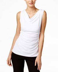 Calvin Klein Fit Solutions Draped Cowl Neck Top White