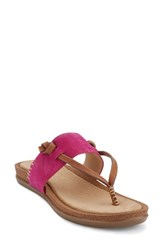 G.H. Bass Women's And Co. Shannon Sandal Magenta Leather