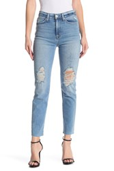 Hudson Jeans Zoeey High Rise Straight Distressed Crop Better Hal