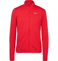 Nike Running Hield Dri Fit Running Jacket Burgundy