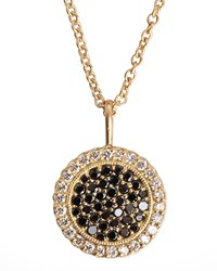 Two Tone Diamond Pendant 18K Gold Necklace Jamie Wolf Pink