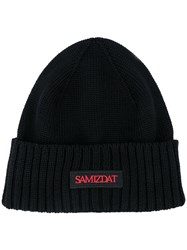 Yang Li Logo Ribbed Knit Hat 60