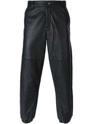 T By Alexander Wang Contrast Panel Trousers Black