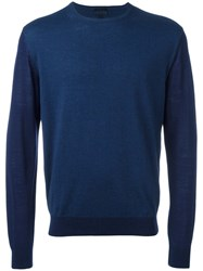 Lanvin Two Tone Jumper Blue