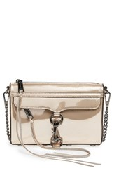 Rebecca Minkoff Mini Mac Convertible Crossbody Bag Metallic Rose Gold Gunmetal