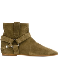 Isabel Marant 'Raelyn' Ankle Boots Green