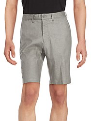 Saks Fifth Avenue Fine Textured Shorts Taupe