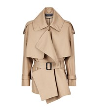 Burberry Runway Oversized Waterfall Trench Jacket Female Camel