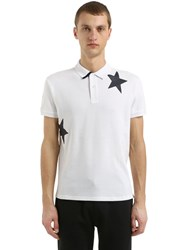 Invicta Stars Cotton Pique Polo White Navy
