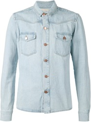 Off White Denim Shirt Blue