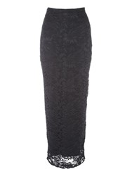 Jane Norman Lace Maxi Skirt Black