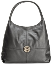 Tommy Hilfiger Jaclyn Casual Leather Hobo Black