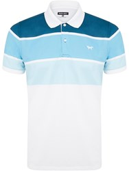 Wolsey Three Colour Stripe Polo Brown